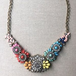 Gorgeous Flower Jeweled Necklace